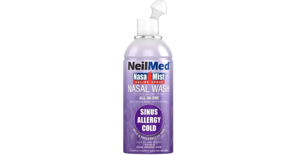 Neil Med Nasa Mist Saline Spray ONLY $6.63 (Reg. $14)