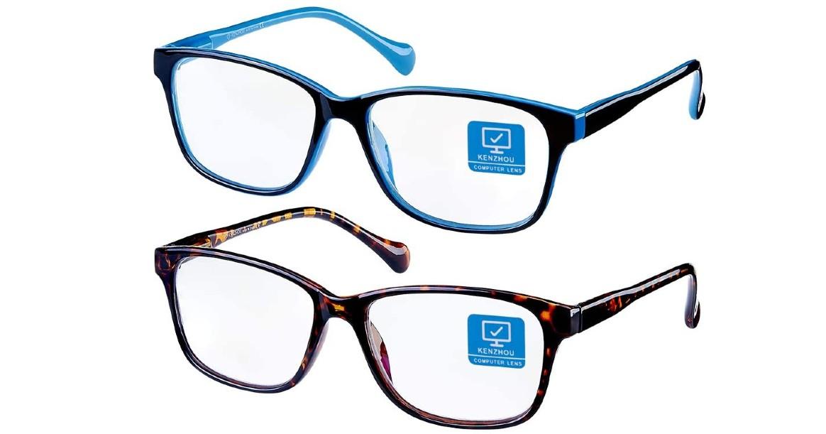 Blue Light Blocking Computer Glasses 2 Pack ONLY $9.99 (Reg $30)