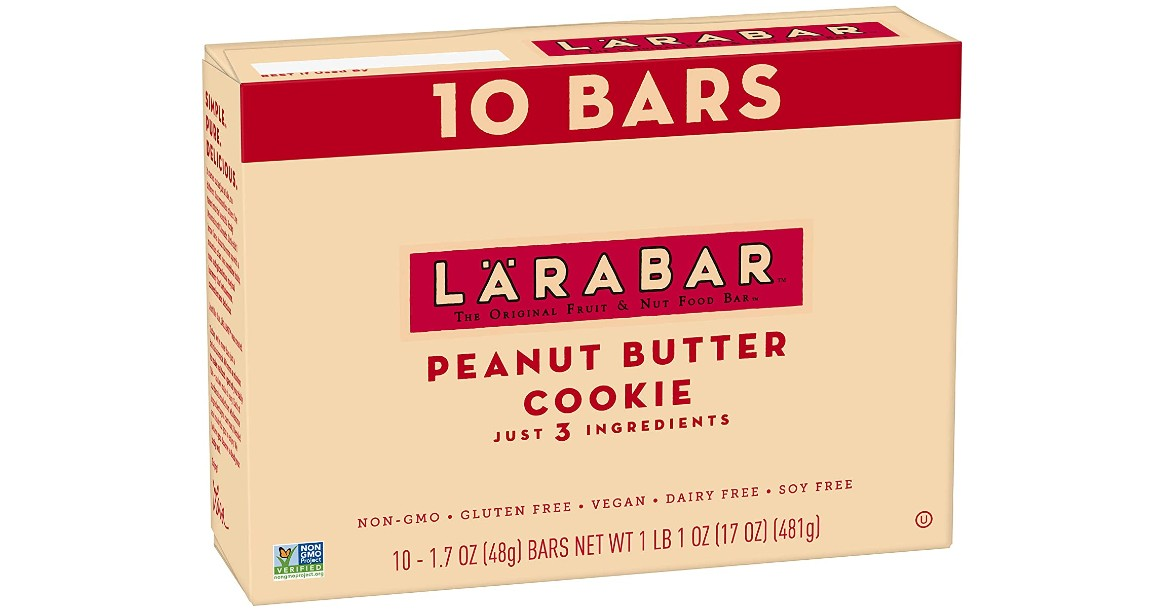 Larabar Peanut Butter Cookie Bars 10-ct ONLY $6.19 Shipped