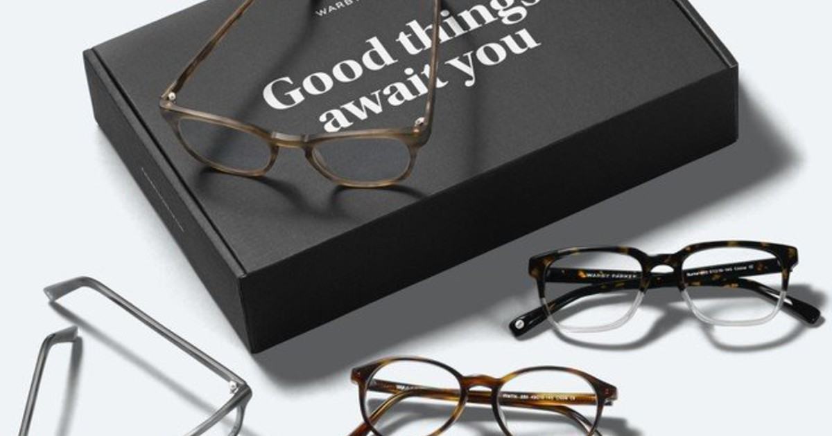 Five New Glasses Mailed for FREE by Warby Parker