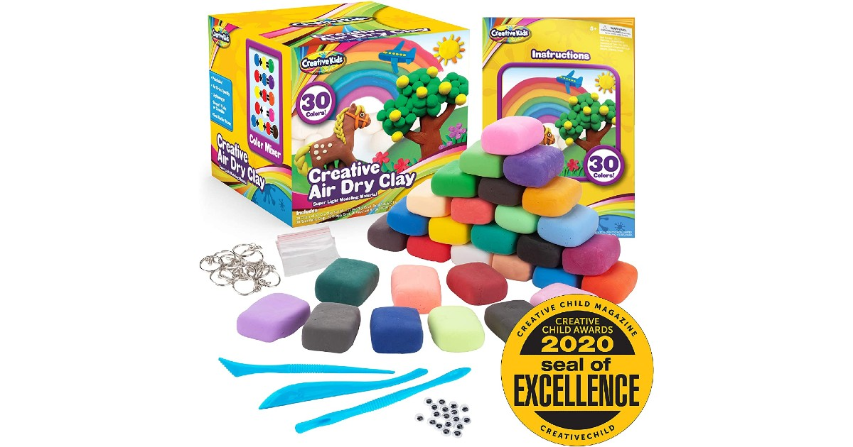 Creative Kids Air Dry Clay ONLY $14.99 (Reg. $30)