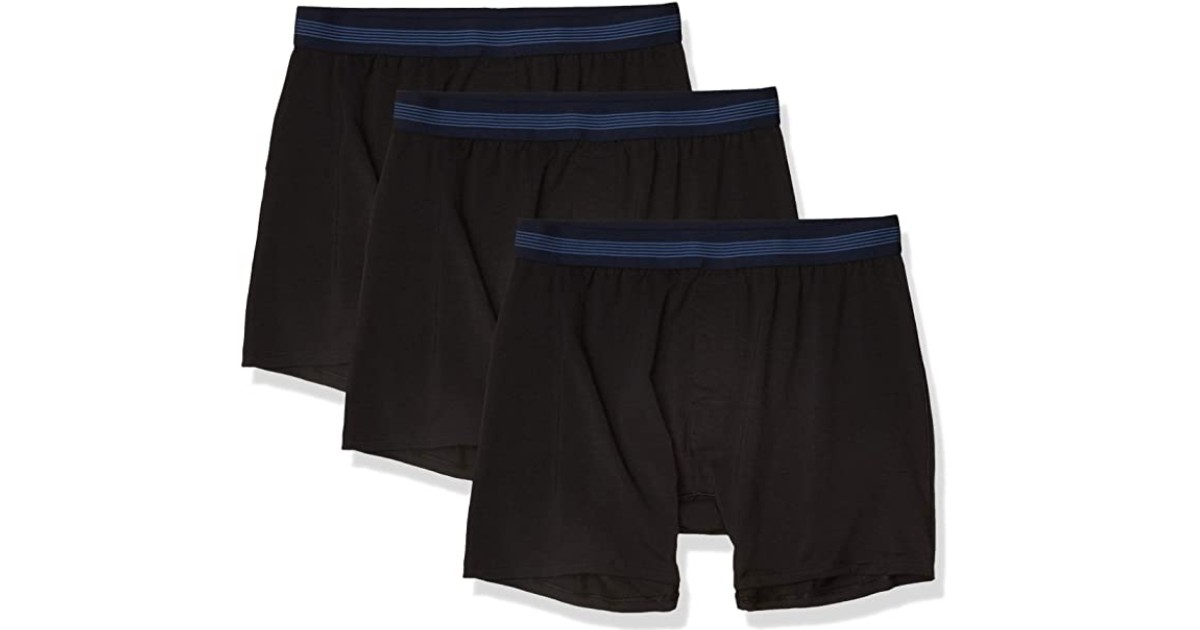 Men's Goodthreads Knit Boxers 3-Pack for ONLY $8.50 at Amazon