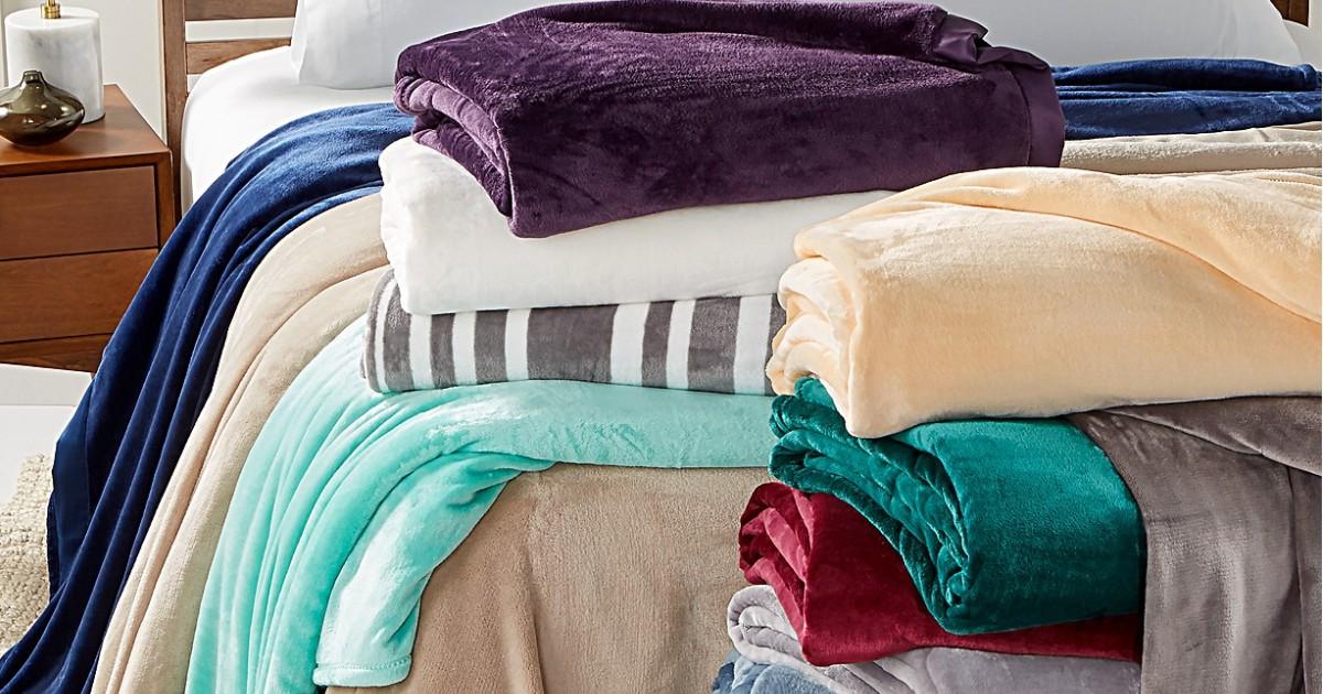 Velvety Plush Blankets ONLY $14.99 at Macy's (Reg $70)