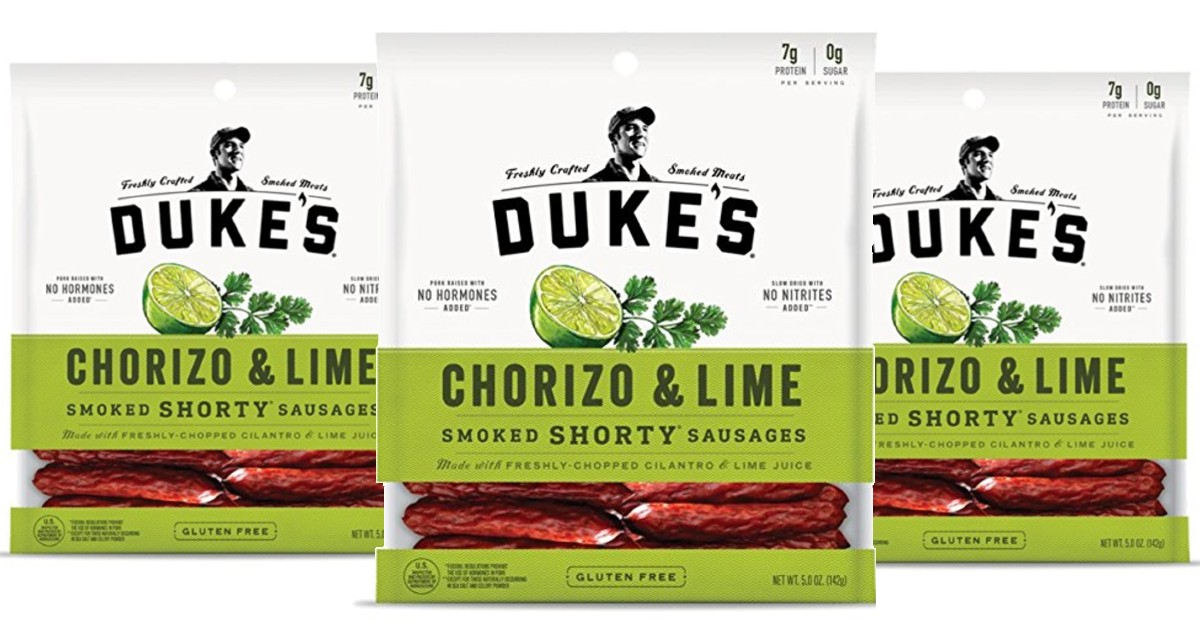 Duke's Chorizo and Lime Pork Sausages 5-oz ONLY $4.26 Shipped