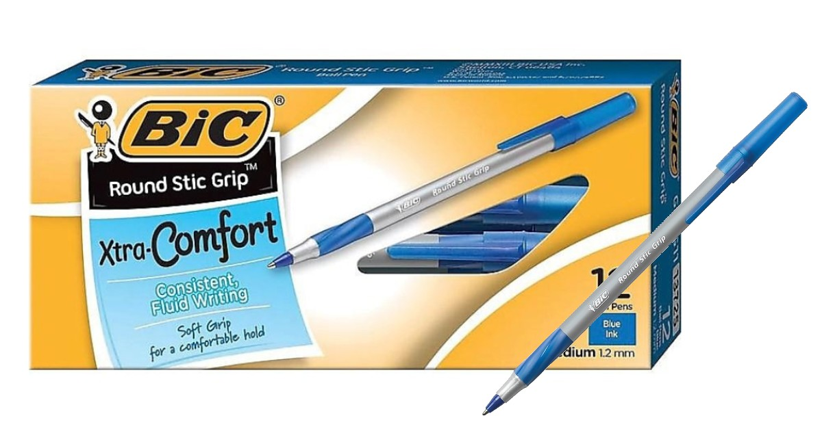 BIC Xtra Comfort Pens 12-Count ONLY $0.97 Shipped at Staples
