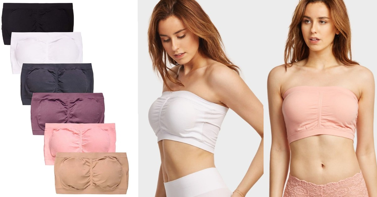 Set of 6 Wide Padded Bandeau ONLY $19.99 (Reg $60)