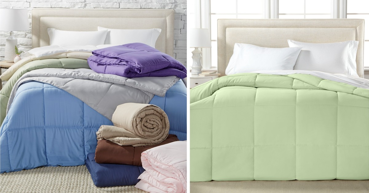 Microfiber Color Down Alternative Comforter ONLY $19.99 (Reg $130)