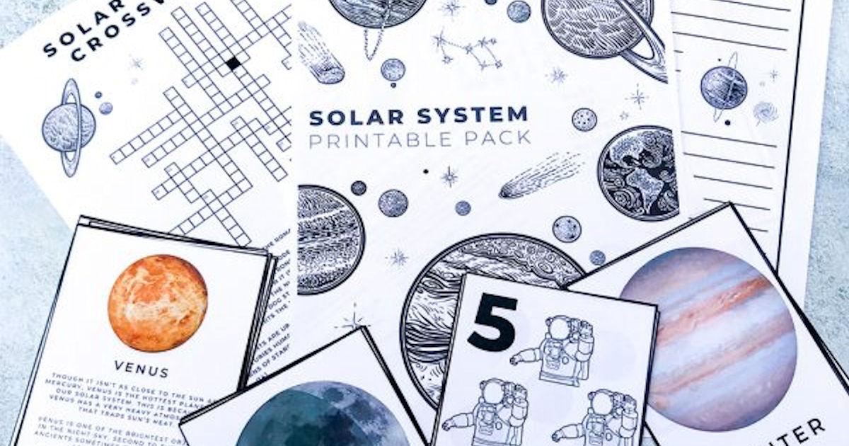 FREE Solar System Printable Ac...