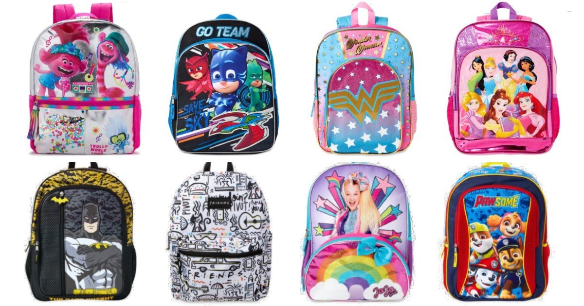 Kids Character Backpacks ONLY.