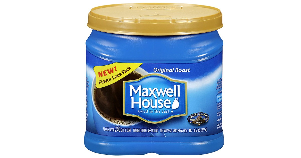 Maxwell House Coffee 30oz ONLY $4.99 at Walgreens (Reg $11)