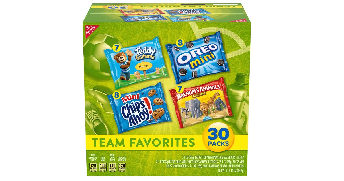 Nabisco Team Favorites Variety 30-Pack ONLY $6.00 Shipped