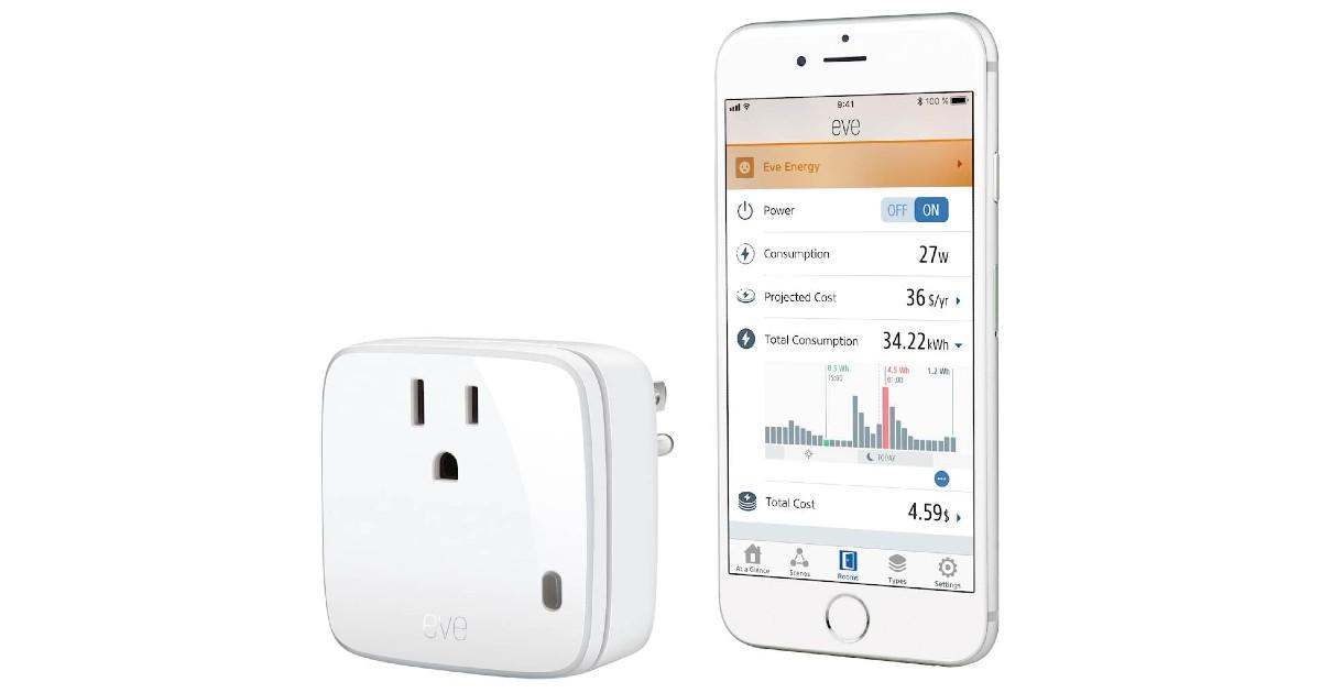Eve Energy Smart Plug & Power Meter ONLY $19.99 (Reg $50)