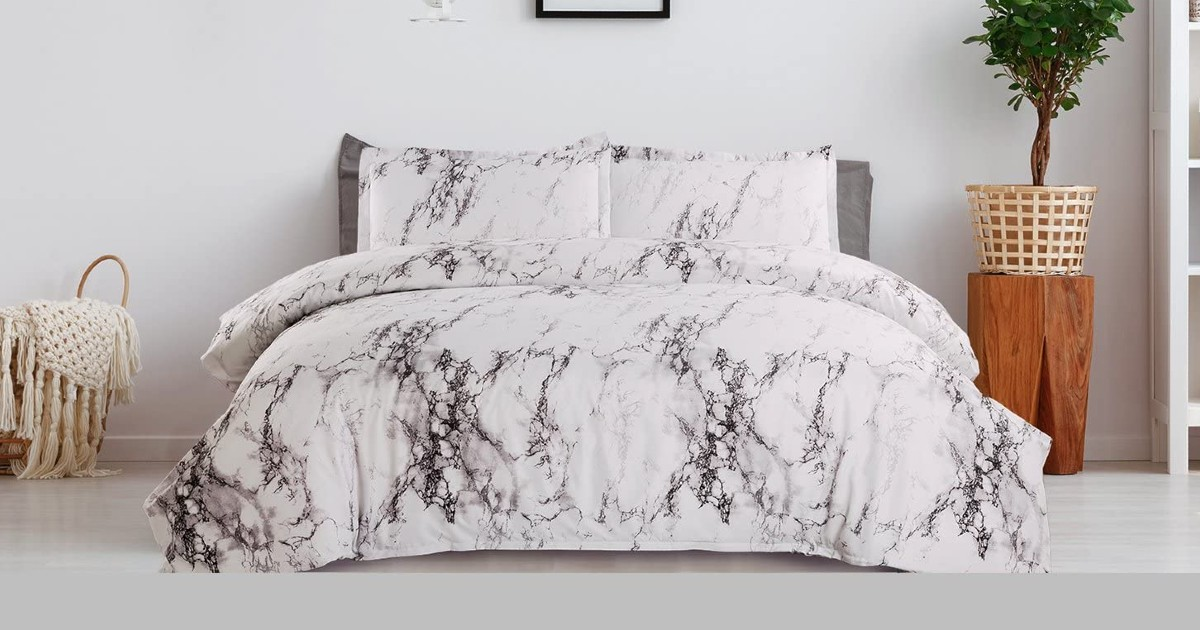 Marble Printed Duvet Cover Sets ONLY $12.49 (Reg $25)