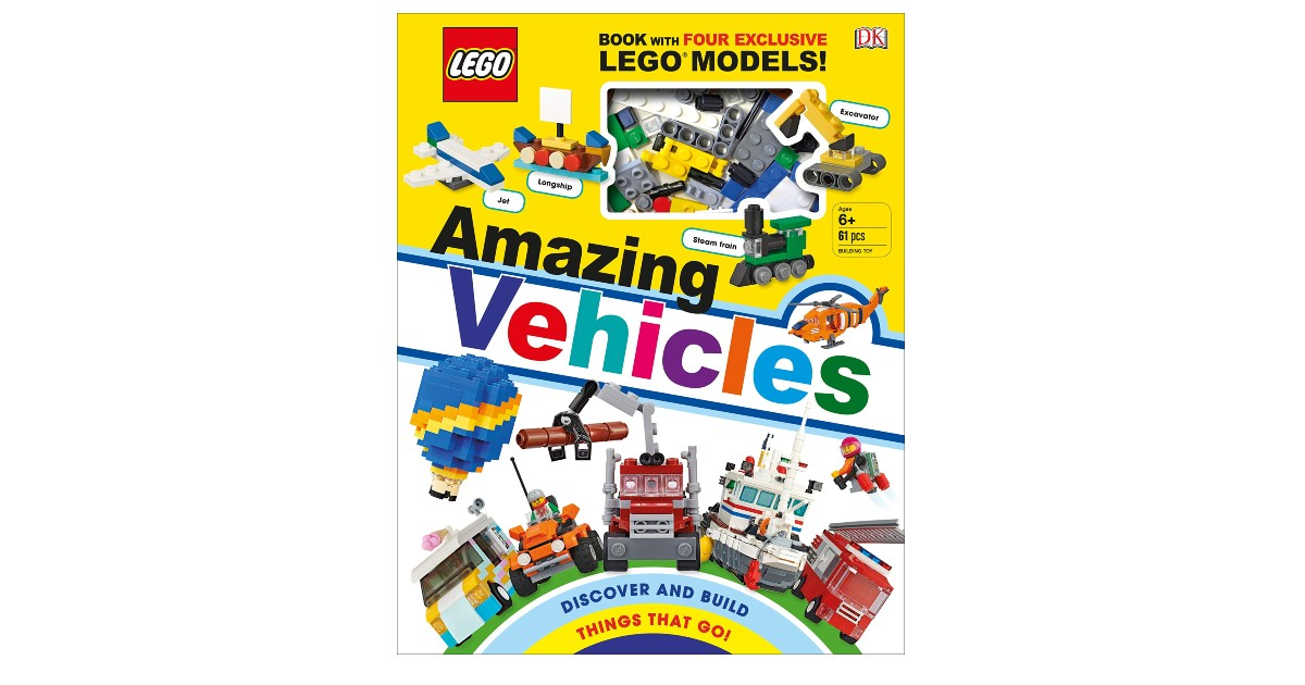 LEGO Amazing Vehicles Hardcover Book ONLY $10.89 (Reg. $20)