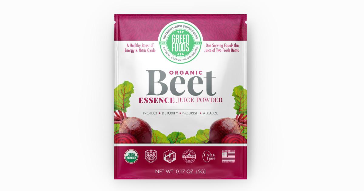 FREE Green Foods Beet Essence.