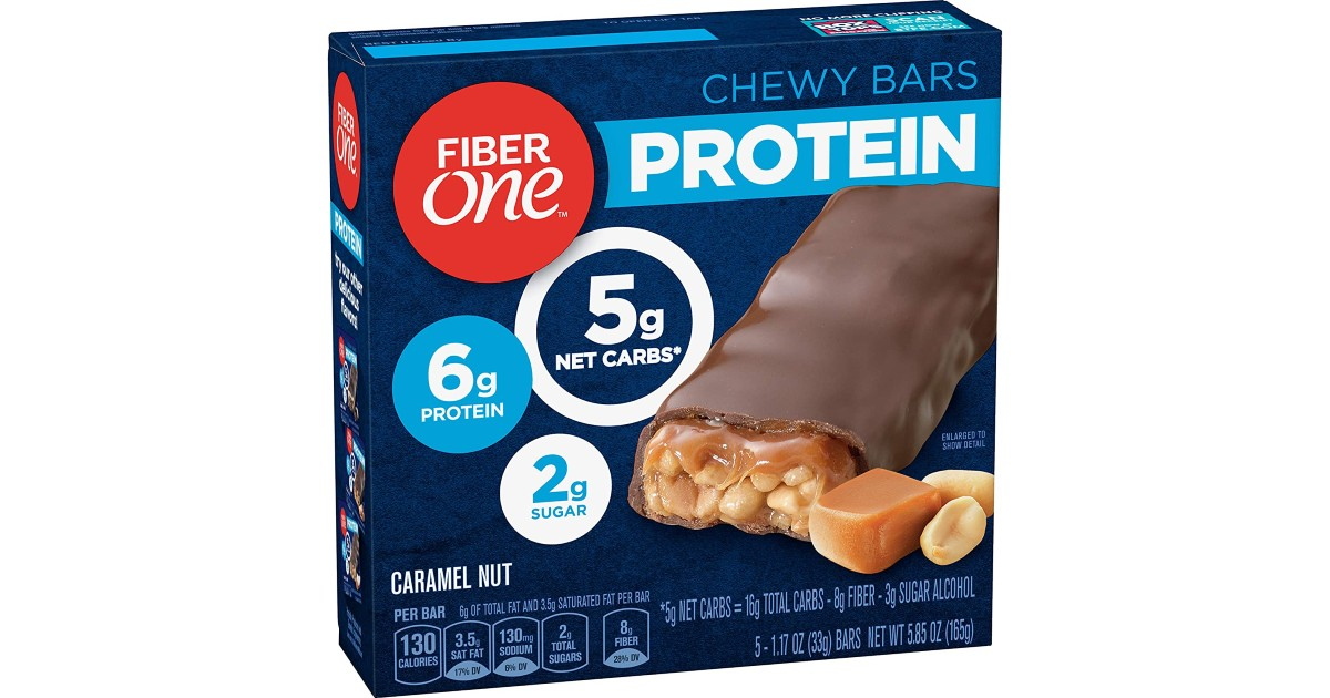 Fiber One Protein Bar 5-Count ONLY $2.35 Shipped
