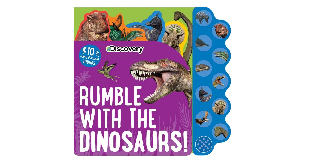 Discovery Rumble with the Dinosaurs Sound Book ONLY $5 (Reg $13)