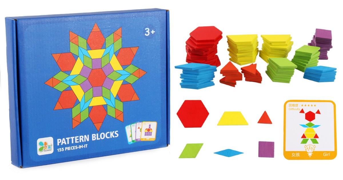 Kids Wooden Toy Pattern Blocks...