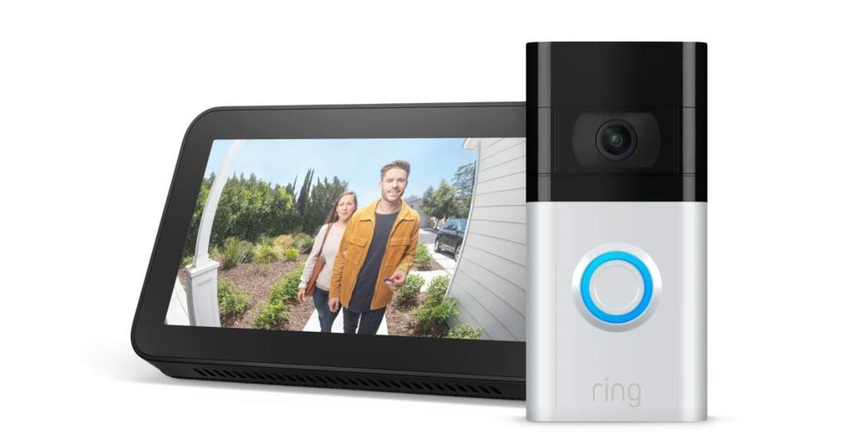 Ring Video Doorbell 3 with Echo Show 5 $149.99 (Reg. $290)