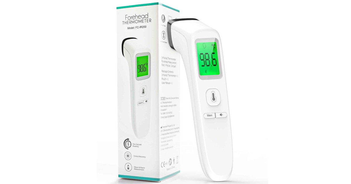 Highly Rated Forehead Digital Thermometer ONLY $27.49 Shipped