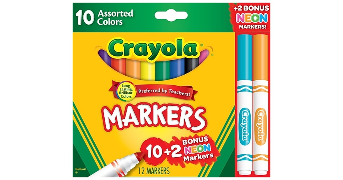 Crayola Markers, Assorted Colors ONLY $0.97 Shipped