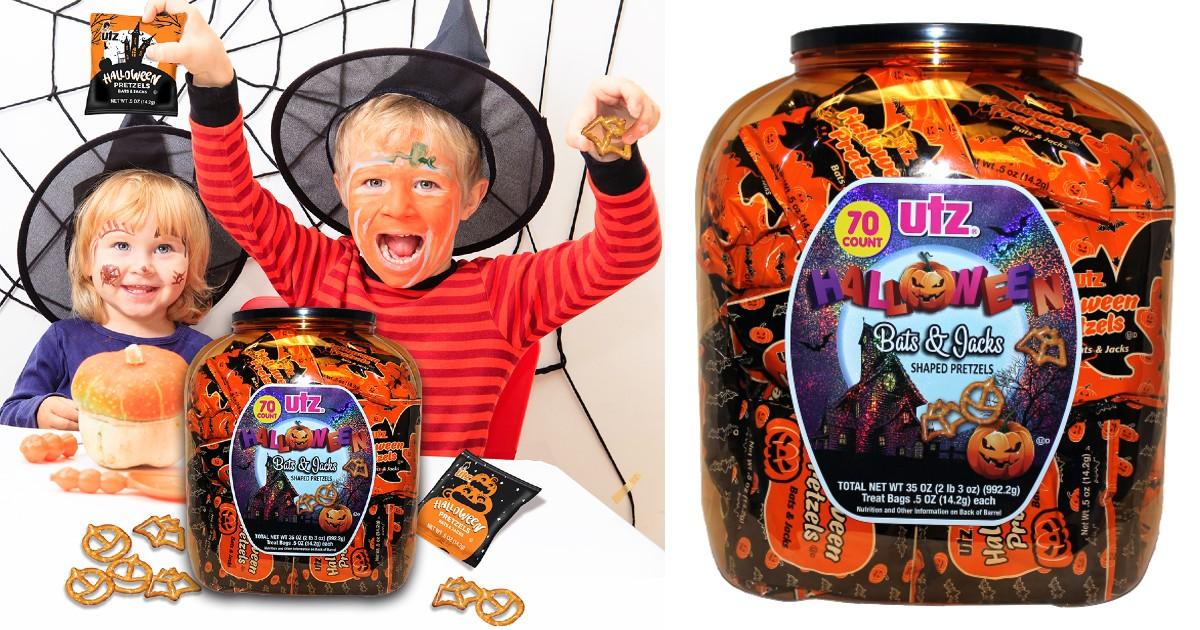 Utz Halloween Pretzel Barrel O...