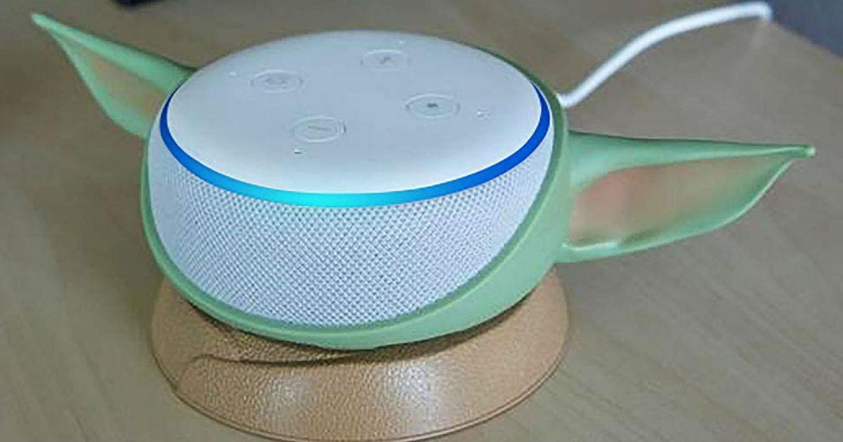 Baby Yoda Echo Dot Stand on Amazon