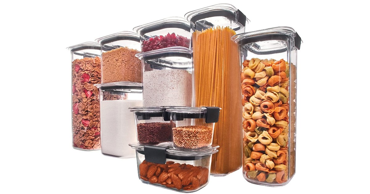 Rubbermaid Brilliance Containers 10-Pack ONLY $38.20 (Reg. $100)