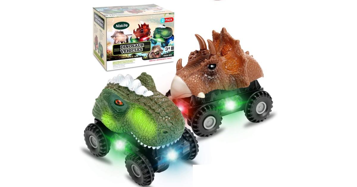 Dinosaur Car Toys for Kids 2-Pack ONLY $16.14 (Reg. $30)