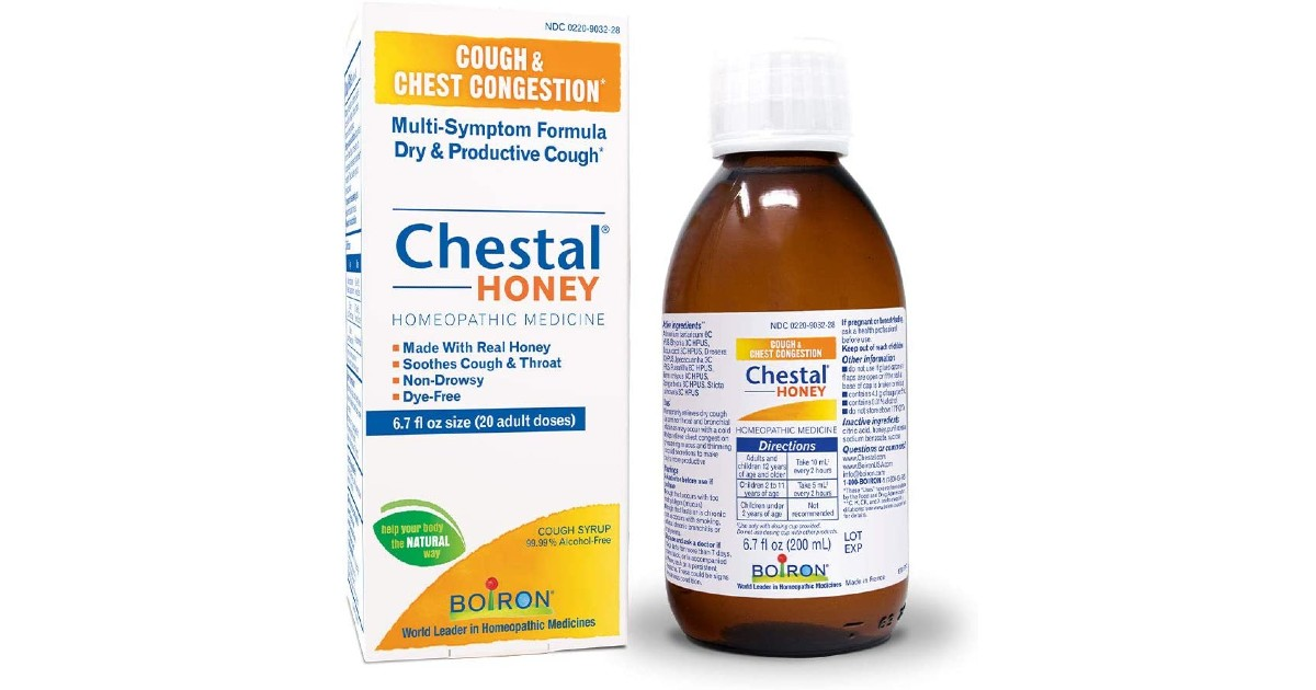 Boiron Chestal Honey Adult Cough Syrup ONLY $4.18 (Reg. $10)