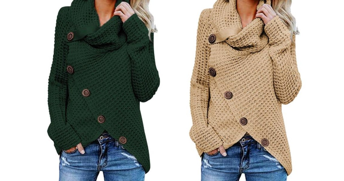 Casual Turtle Neck Sweater ONLY $24.74 (Reg $45)