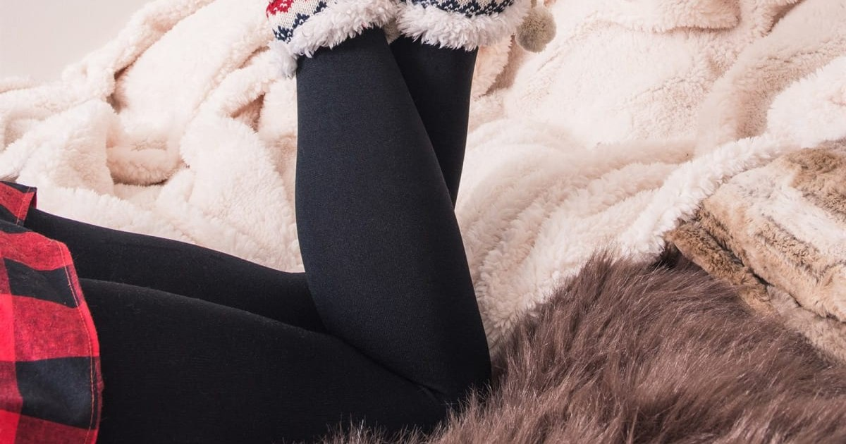 MUK LUKS Solid Fleece Lined Leggings ONLY $11.99 (Reg. $20)