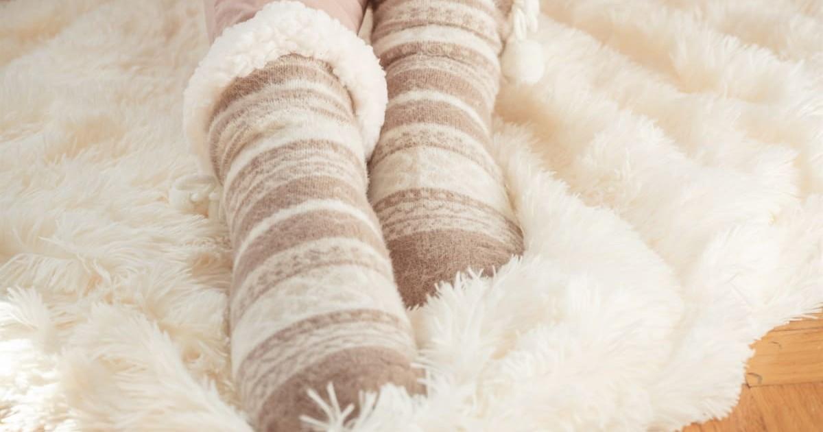 MUK LUKS Women's Eyelash Cabin Socks ONLY $9.99 (Reg. $20)