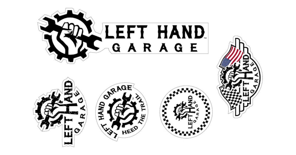 FREE Left Hand Garage Stickers...
