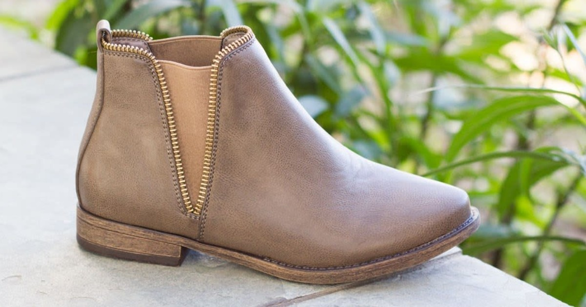 Zipper Stretch Ankle Boots ONLY $13.99 Shipped (Reg $55)
