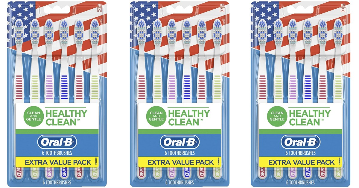 Oral-b Healthy Clean Toothbrushes 6-Pack 3 for $9.22Shipped