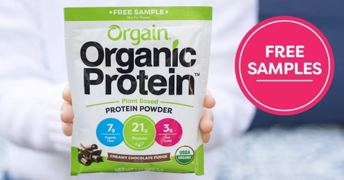 FREE Sample of Orgain Protein Powder
