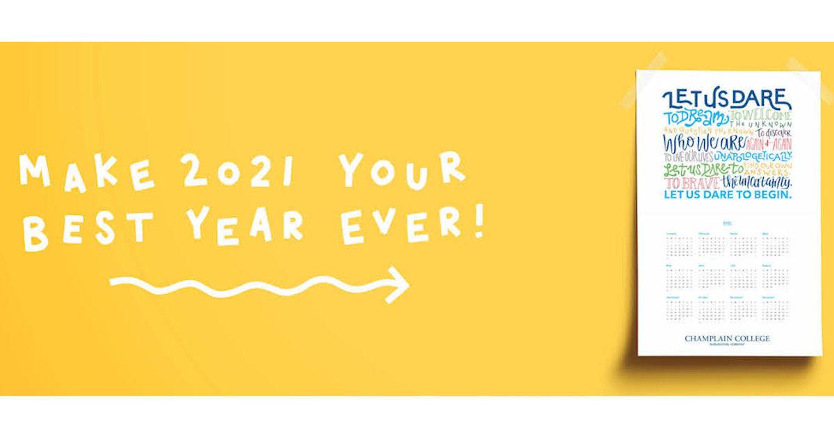 FREE 2021 Champlain College Poster Calendar