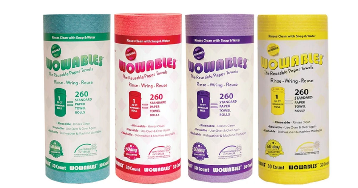 FREE Wowables Reusable Paper Towels Sample