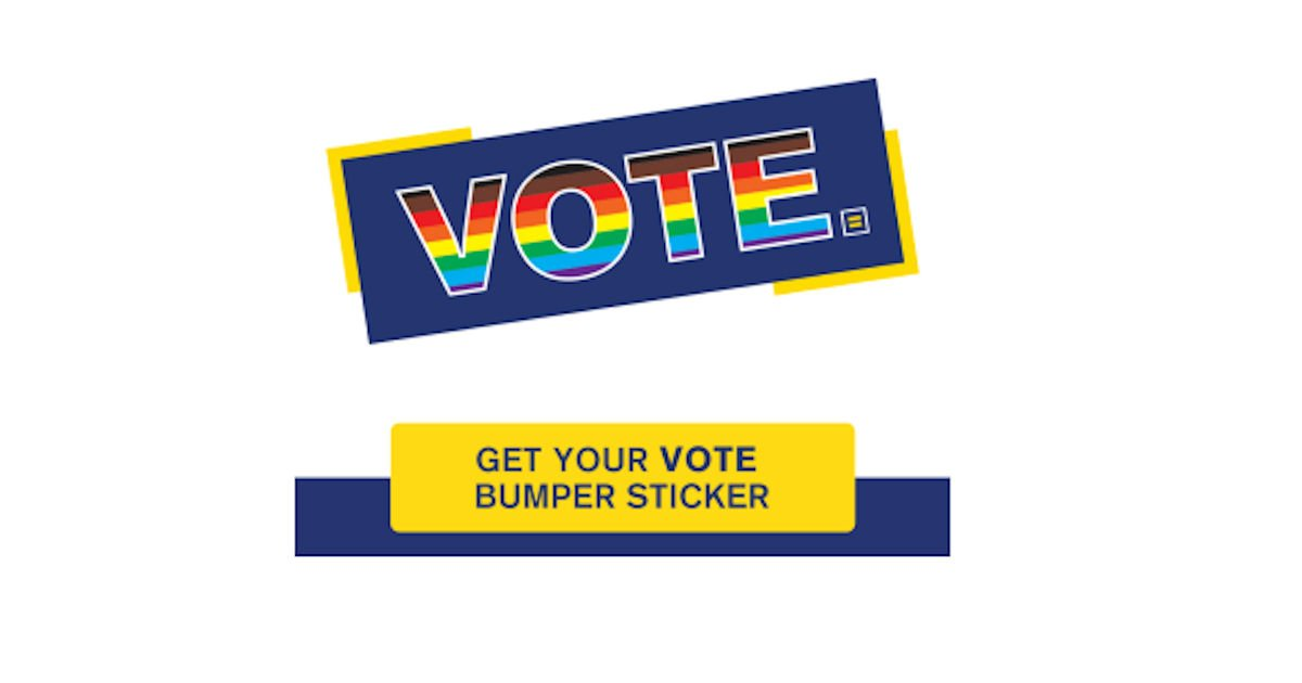 FREE HRC Vote Bumper Sticker