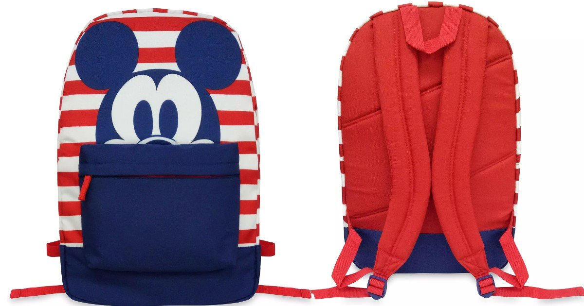 Mickey Mouse Striped Backpack ONLY $7.98 (Reg $27) | Back to School