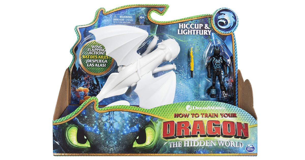 Dreamworks Dragons Lightfury and Hiccup ONLY $7.55 (Reg. $15)