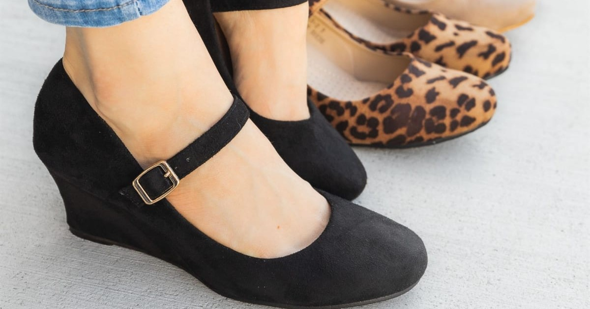 Chic Mary Jane Wedges ONLY $19.99 (Reg $40)