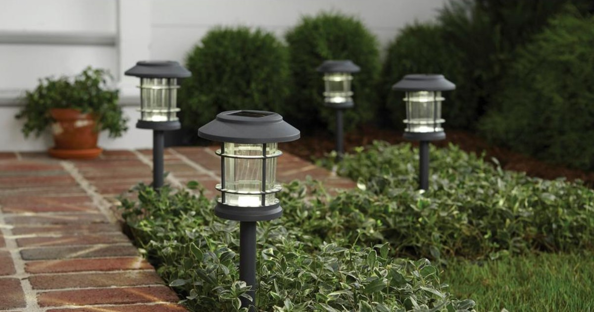 Solar Gray LED 10 Lumen Path Light 5-Pack ONLY $12.88 (Reg $20)