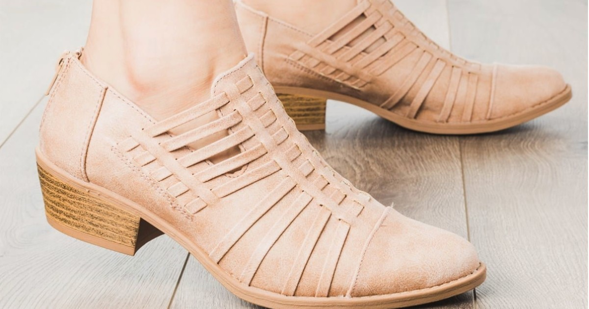 Strappy Heel Booties at Jane
