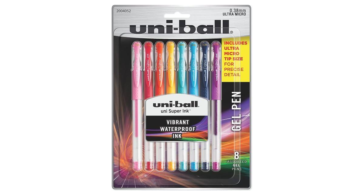 Uni-Ball Gel Pens 8-Pack ONLY $5.00 (Reg. $11)