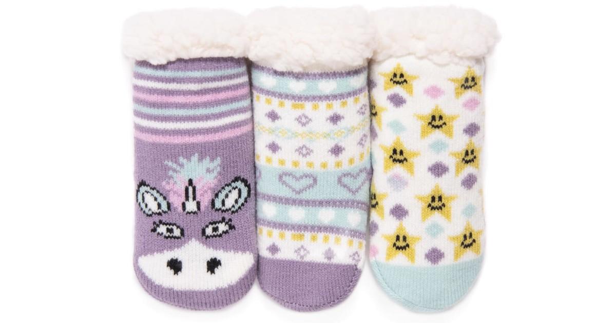 MUK LUKS Baby Cabin Socks 3 Pack ONLY $9.99 (Reg. $25)