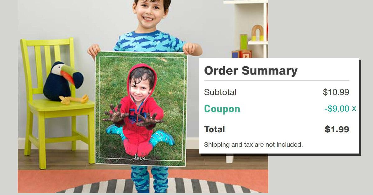 Walgreens Custom Photo Poster $1.99 with Coupon (Reg. $11)