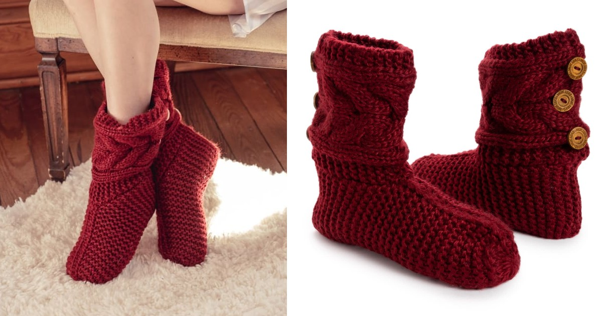 MUK LUKS Women's Slouchy Slipper Socks ONLY $18.99 (Reg $30)