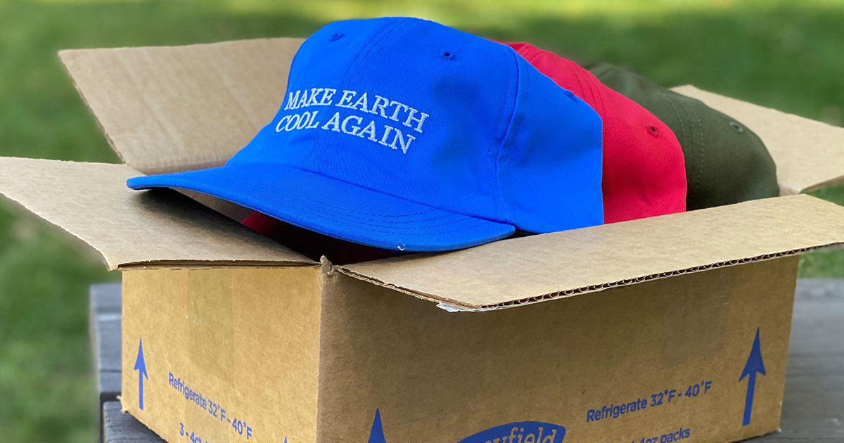 stonyfield make earth cool again hat